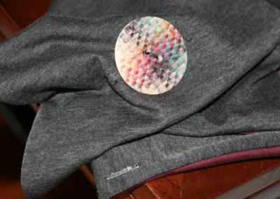 Sciarpa Bicolor - bottone legno