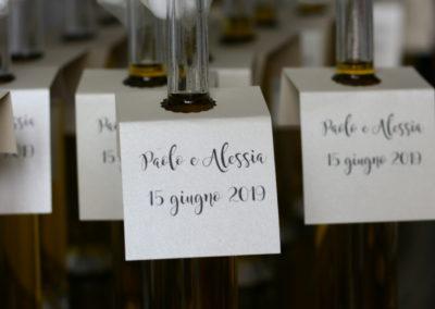 """Bomboniera """"Olio aromatizzato"""" Paolo e Alessia"""