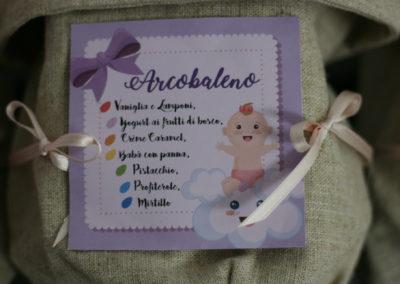 """Segnagusto confetti """"Battesimo di Viola"""""""