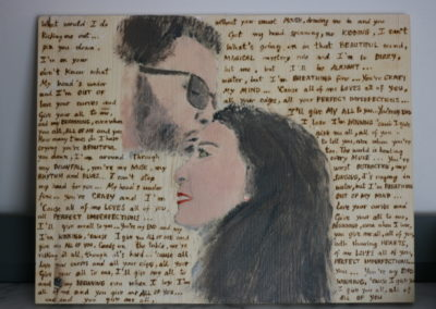 "Quadro pirografato ""All of Me"""