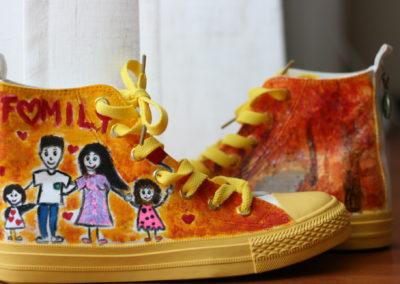 """Scarpe dipinte a mano """"Autunno-Family"""""""