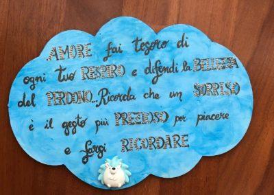 "Nuvola dipinta a mano ""Ricci"""