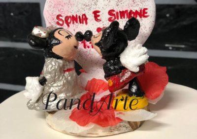 Cake topper Minnie e Topolino Sonia e Simone