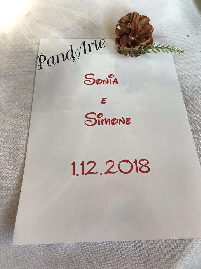 Menu Sonia e Simone