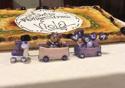 Cake Topper Trenino, Battesimo di Viola